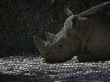 'Rhino Ruminations', a fine art giclee
