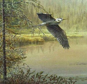 Pierre Leduc art print 'Fluttering Wings'