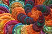 "Giclee print, spiral art ""The Coasters"" by Kinnally"