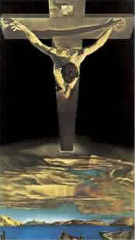Art print �Christ of St John of the Cross� by Salvador Dali; a religious painting