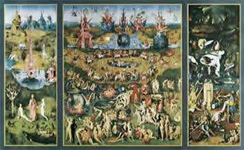 Art print �The Garden of Earthly Delights� by Hieronymus Bosch; a triptych
