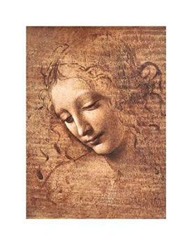 Art print �La Scapigliata� by Leonardo Da Vinci; portrait of a woman's head