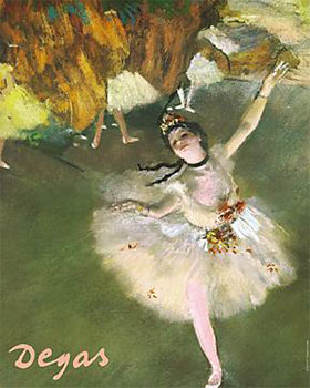 Art print �Ballerina� by Edgar Degas; ballet dancer