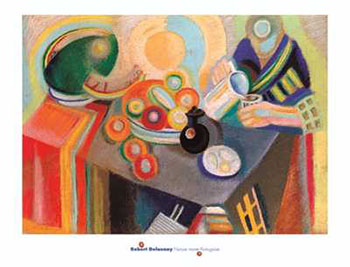 Art print �Nature Morte Portugaise� by Robert Delaunay; table setting, modern art