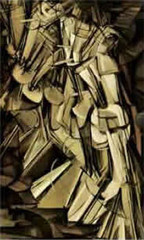 Art print �Nude Descending a Staircase� by Marcel Duchamp; cubism