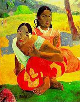 Art print �When Are You Getting Married� by Paul Gauguin; portrait of a man and a woman