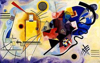 Art print �Jaune, Rouge, Bleu 1925� by Wassily Kandinsky; modern art