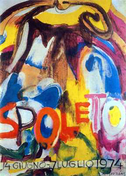 Art print �Spoleto-14 Giugno, 1974� by Willem De Kooning; modern art