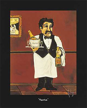 Art print �Maurice� by Francois Leger; portrait of a waiter