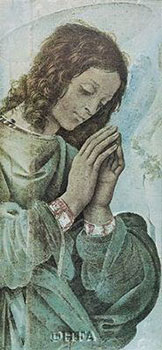 Art print �Adoring Angel� by Filippino Lippi; an angel praying