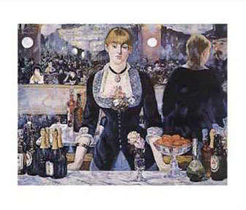 Art print �A Bar At the Folies Bergere� by Edouard Manet; portrait of a barmaid