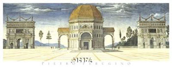 Art print �Architectural Detail� by Pietro V Perugino; ancient buildings