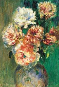 Art print �Roses Dans Un Vase� by Pierre-Auguste Renoir; roses in a vase