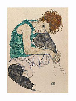 Art print �Artist's Wife� by Egon Schiele; portrait of a woman