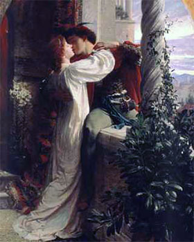 Art print �Romeo and Juliet� by Sir Francis Bernard Dicksee