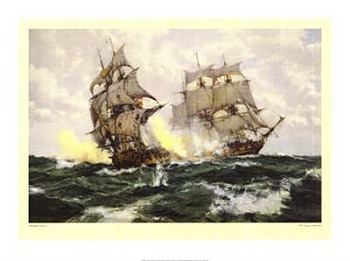 Days of Adventure by artist Montague Dawson. Poster prints, art prints, posters, marine art; from an original oil painting
