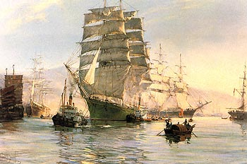Art print by artist & British painter Montague Dawson - �The Thermopylae Leaving Foochow�;.