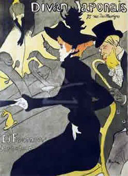 Art print by Henri de Toulouse-Lautrec - �Divan Japonais�. a man & woman in a theatre