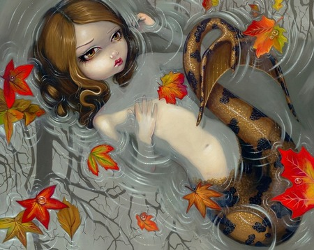 Giclee prints, art prints, �Autumn Mermaid� by Jasmine Becket-Griffith