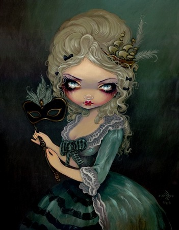 Giclee prints, art prints, Marie Antoinette Masquerade by Jasmine Becket-Griffith