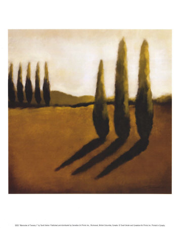 art prints, posters, �Memories Of Tuscany I� by Tandi Venter, a landscape with hills & trees;