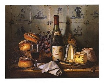 Still life art prints, poster prints, �Fine Meal� by Raymond Campbell