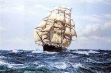 Racing Home 'The Cutty Sark'&#13;&#10;by Montague Dawson