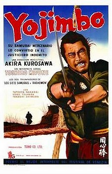 Movie posters, movies, movie poster, framed art, posters, Yojimbo, foreign films, foreign movies, samurai movies, Japanese movies, Akira Kurosawa.