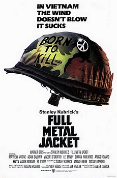 Movie posters, movies, movie poster, framed art, posters, Full Metal Jacket, war movies, war films, born to kill, Stanley Kubrick