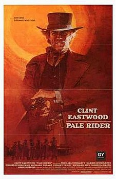 Movie posters, movies, movie poster, framed art, posters, Pale Rider, western movies, western films, westerns, Clint Eastwood