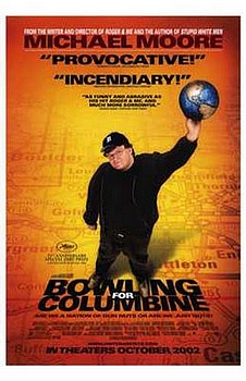 Movie posters, movies, movie poster, framed art, posters, Bowling for Columbine, documentary moveis, documentary films, documentaries.