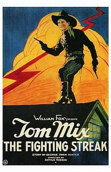 Movie posters, movies, movie poster, framed art, posters, The Fighting Streak, western movies, western films, westerns, Tom Mix
