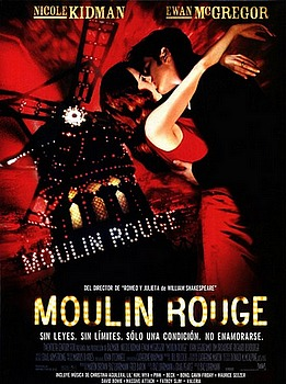 Movie posters, movies, movie poster, framed art, posters, Moulin Rouge, Music films, music movies, musicals, Nicole Kidman, Ewan McGregor